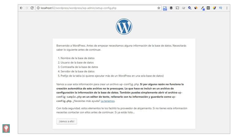Instalar WordPress, configuración