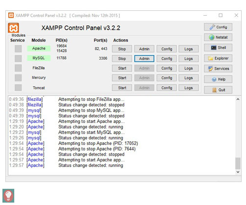 Xampp Control Panel - Start